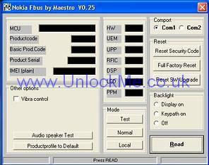 nokia security code resetter download